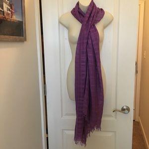 Lane Bryant Purple Rayon woven scarf